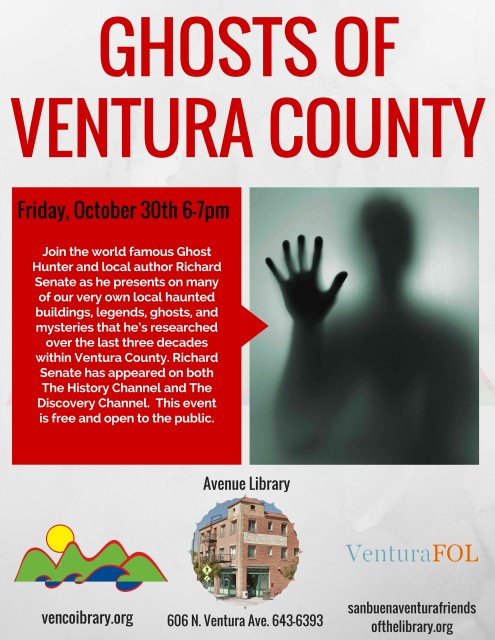 Avenue Library - Ghosts of Ventura County Flyer