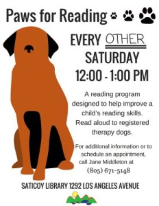 Saticoy Library - Paws for Reading2016
