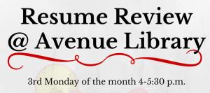 Avenue Library - Resume Help