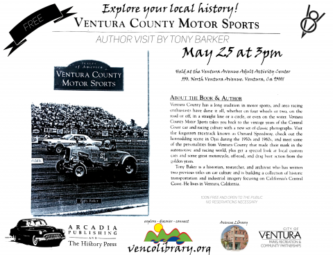 Avenue Library - Flyer - Ventra County Motorsports - May 2016